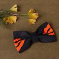Tasmanian Tiger Pet Bow Tie - Black and Orange