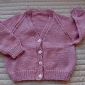 SIZE 2-3 yrs Hand knitted cardigan : Acrylic, Girl,  machine washable