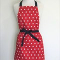 Red & White Star Womens Kitchen Apron - FREE Post!