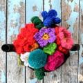 Floral Crochet Tea Cosy Ready To Ship