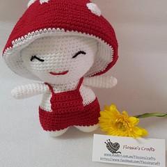 Crocheted Mushroom Dolls