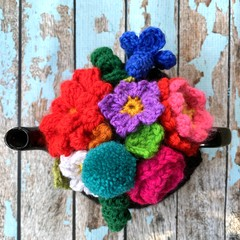 Floral Crochet Tea Cosy Ready To Ship