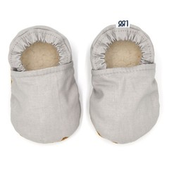 Neutral Grey Soft Sole Baby Shoes, Baby Booties, Solid Colour, Plain, Baby Gift,