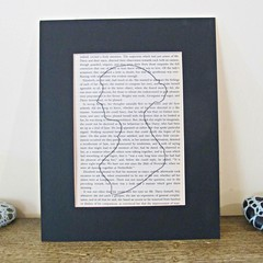 Jane Austen Silhouette Wall Art Print Decor Illustrated Artwork Black and White