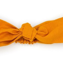 Butterscotch Top Knot Headband, Girls Headband, Baby Gift, Knot Headband, Solid,