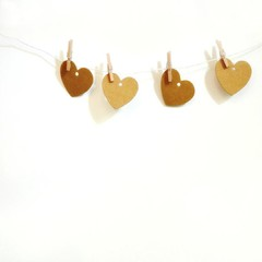 Mini Kraft Heart Tags {20} Mini Heart Tags | Labels Favors | Mini Heart Tags