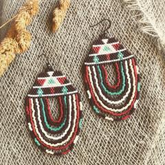 Handmade Delica Bead drop earrings