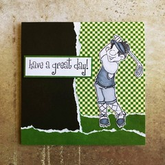 Handmade Card - Have a Great Day - Golf theme