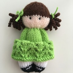 Grace - Hand Knitted Doll