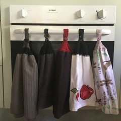 Crotcheted Top Kitchen towel