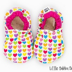 Heart Soft Sole Baby Shoes Crib Shoes Baby Booties Soft Sole Shoes Infant Shoes