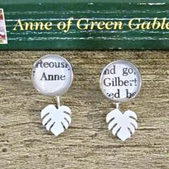 Anne of Green Gables Ear Jackets Earrings Monstera Leaf Gilbert Blythe Shirley
