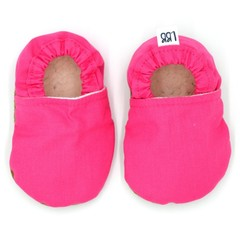 Hot Pink Soft Sole Baby Shoes, Baby Booties, Solid Colour, Plain, Baby Gift, New
