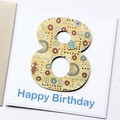 Any Age Birthday card | Personalised | Children Kids Aliens 1 2 3 4 5 6 7 8 9