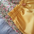 Girls Mustard High Waisted Bloomers / Britches Size 1, 2, 3, 4, 5 & 6