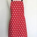 Red & White Star Womens Kitchen Apron - FREE Post!