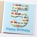 Any Age Birthday card | Personalised | Children Kids Trains 1 2 3 4 5 6 7 8 9