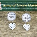 Anne of Green Gables Ear Jackets Earrings Monstera Leaf Gilbert Blythe Shirley