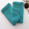 Turquoise Handwarmer Mitts in Teenager or Adult Size