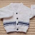 Size 0-6 months Baby Cardigan : washable, boy