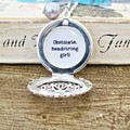Jane Austen Quote Necklace Jewellery Pride and Prejudice Obstinate Headstrong