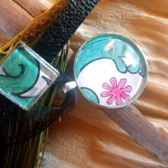 Tidal Wave Bracelet and Pendant Set