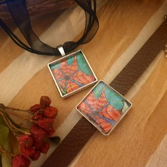 Autumn Leaves bracelet and pendant Set