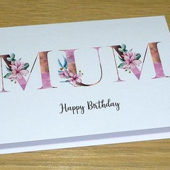 Female Happy Birthday Card  - Magnolias  - Mum - Nanna - Grandma