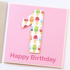 Any Age Personalised Birthday Card For Kids, Custom Made Handmade Birthday Card