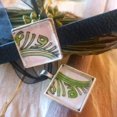Leaf Delight Bracelet and Pendant Set
