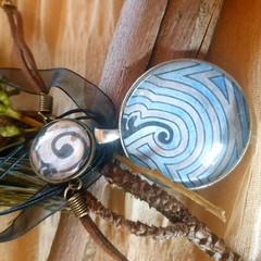 Labyrinth Pendant and Bracelet Set