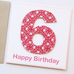 Any Age Birthday card | Personalised | Children Kids Hearts 1 2 3 4 5 6 7 8 9