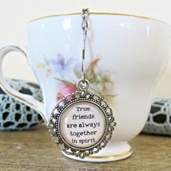 Anne of Green Gables Tea Infuser Strainer Quote True Friends Foodie Gift Heart