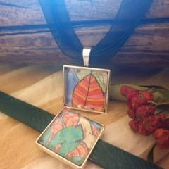Fall Leaves Bracelet and Pendant
