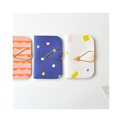 Funky Mini Books {3} Pink Blue White | Mini Pocket NoteBooks | Blank Books | Pap