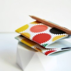 Mid 3x4in {2} Blank Books Starbursts | Pocket Notebooks | Starburst Notebooks