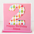 Any Age Birthday card | Personalised | Children Kids Ice Cream 1 2 3 4 5 6 7 8 9
