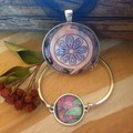 Spring Flowers bracelet and Pendant Set
