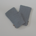 Gray Texting Mitts for Adult Hand Size