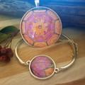 Autumn Sun Bracelet and Pendant Set