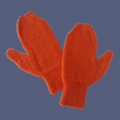 Orange Mittens for Medium Adult Size Hand