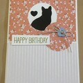 Birthday Handmade Card - cat