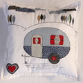 Cushion cover - Retro caravan