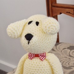 Dani Bear : crochet, safe, OOAK, washable, baby shower, unisex