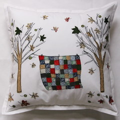 Cushion cover - Autumn trees with quilt