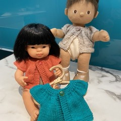 Miniland Doll short sleeve cardigan