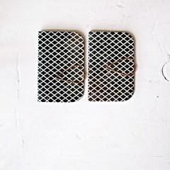 Mini Black Books {2} Lattice | Mini Journals | Pocket Notebook | Gift under 5