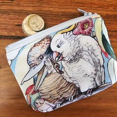 Coin Purse - May's Tales (Cockatoo & Kookaburra)
