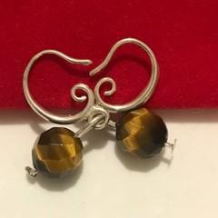 Sterling Silver Tigers eye Earrings