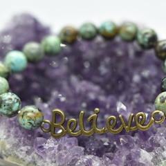 Believe Africian Turquoise Bracelet